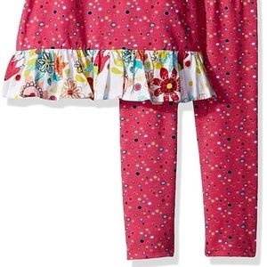 Jelly The Pug Matching Sets - Jelly The Pug Girl Tulip Polka Dot Top Legging Set